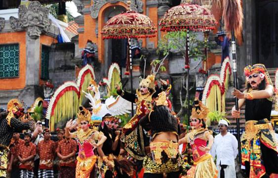 Pawai Budaya HUT Ke-244 Kota Gianyar